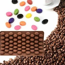 55 Mini Coffee Bean Silicone Mould Cake Chocolate Jelly Cand