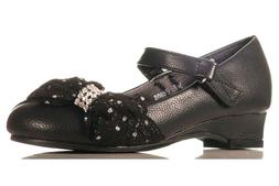 Girls Toddles & Youth Black Fabric Bow mary jane Formal occa