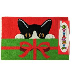 Home Comfort Jellybean Playful Kitty Cat Rug Mat Indoor Outd