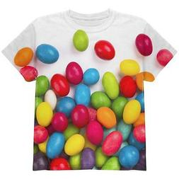 jelly beans all over youth t shirt