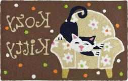 KOZY Kitty Cat Jellybean Rug Indoor/Outdoor Machine Washable