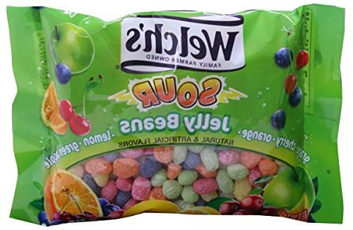 Welch's Sour Jelly Beans Candy 5 Flavors, 13 oz.