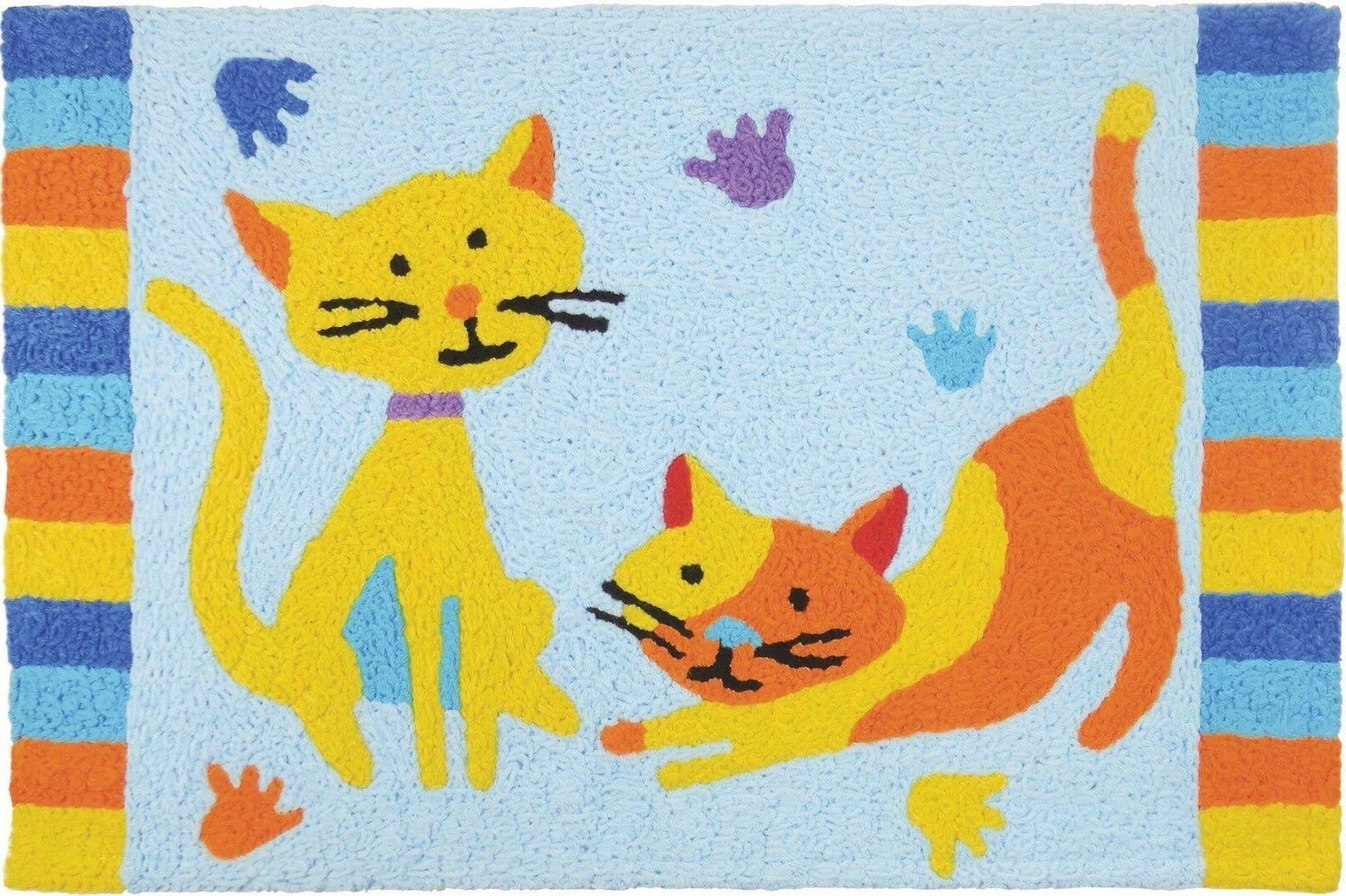 Door Mat Jellybean Rug Let's Play Washable Durable Indoor Ou
