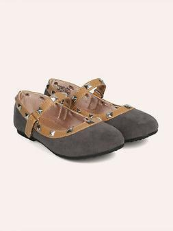 New Girls Round Toe Studded Mary Jane Flat - 18062 By Jelly