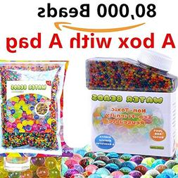 Water Beads Pack 12 OZS  Rainbow Mix Jelly Water Growing Bal